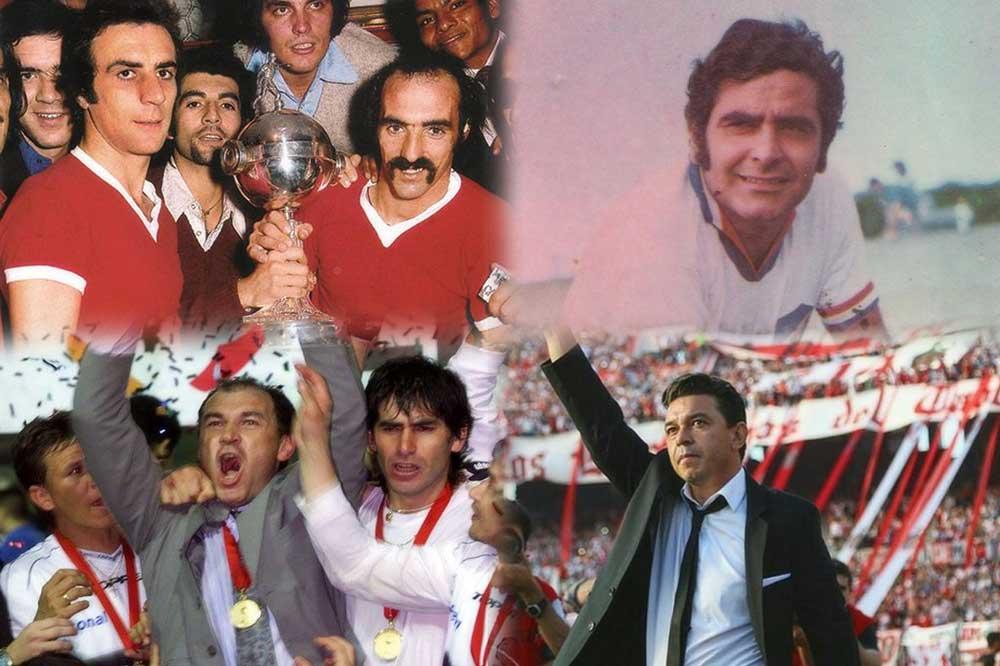 Campeones de la Libertadores jugando y dirigiendo