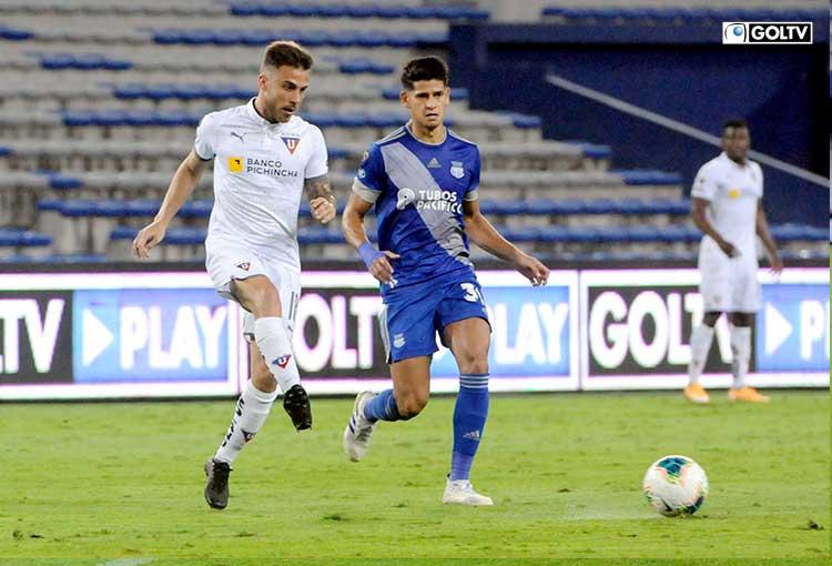 Liga de Quito sacó un empate en el Capwell ante Emelec y retoma la punta del torneo