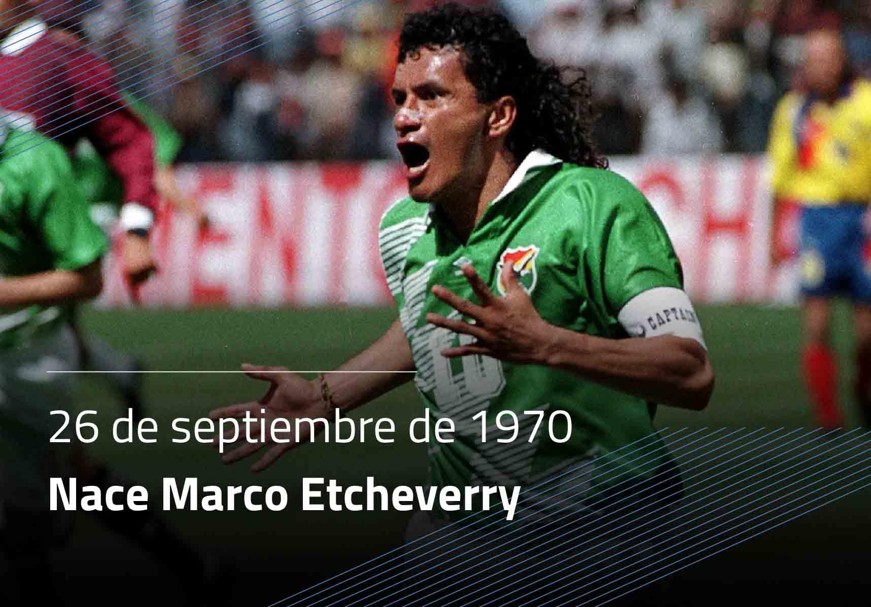 Nace Marcos Antonio Etcheverry