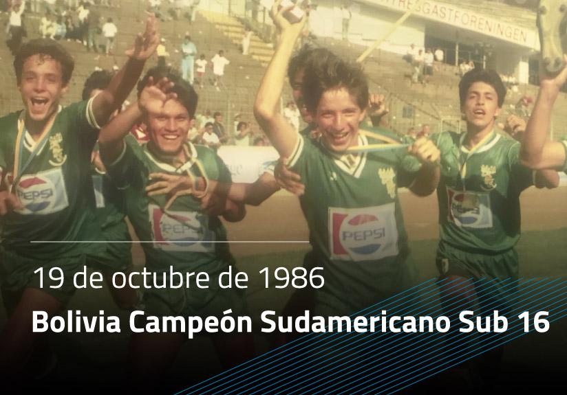Bolivia Campeón Sudamericano Sub16